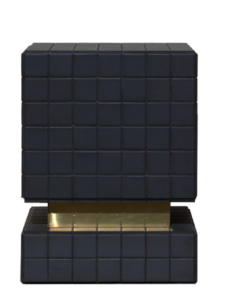 TILE & BRASS SIDE TABLES