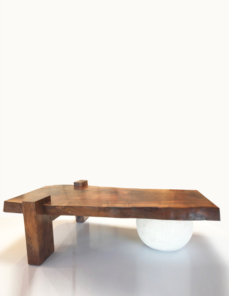 WALNUT & CLAY COFFEE TABLE