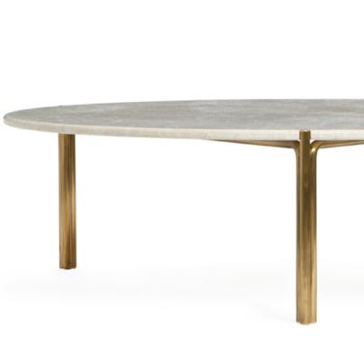BRASS & STONE COFFEE TABLE