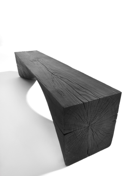 CHARRED CURVE BENCH