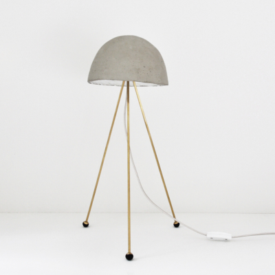CONCRETE & BRASS TABLE LAMP