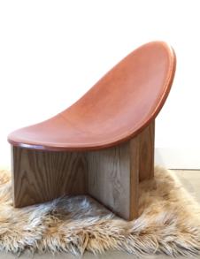 LEATHER SCOOP CHAIR