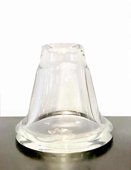 WIDE EDGED GLASS VASE - BY MARK PAVLOVITS