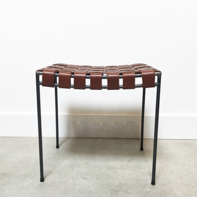 UNTITLED WOVEN LEATHER STOOL