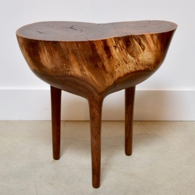 CARVED PEDESTAL SIDE TABLE 1