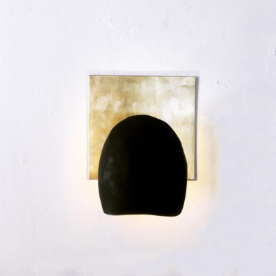 CONCRETE & BRASS WALL SCONCE