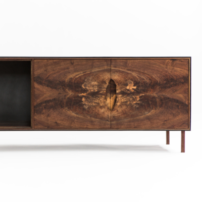 OUTSIDE OUT CREDENZA IN WALNUT BY PATRICK WEDER