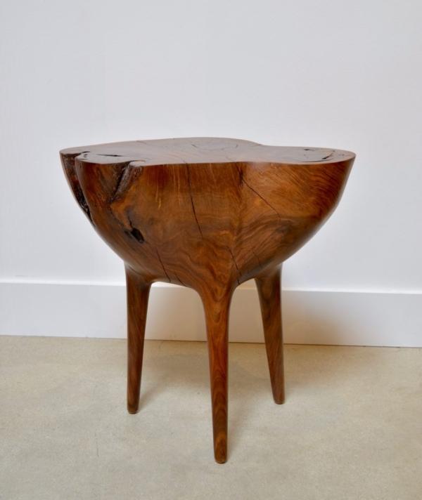 CARVED PEDESTAL SIDE TABLE 3