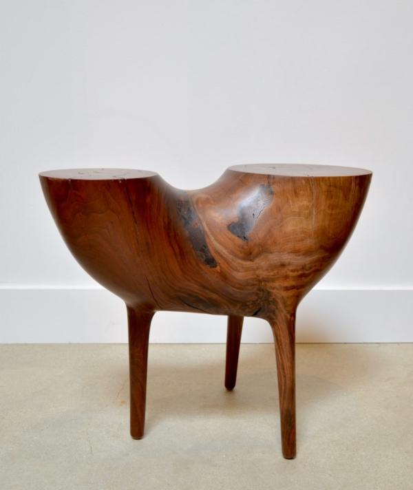 CARVED PEDESTAL SIDE TABLE 2