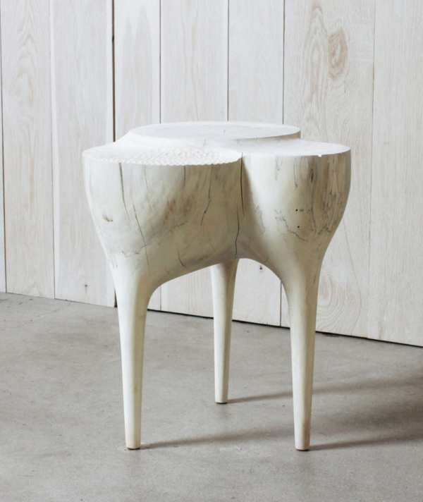 SYCAMORE CARVED SIDE TABLE