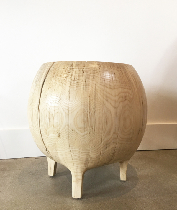 BLEACHED MERCURY STOOL / TABLE