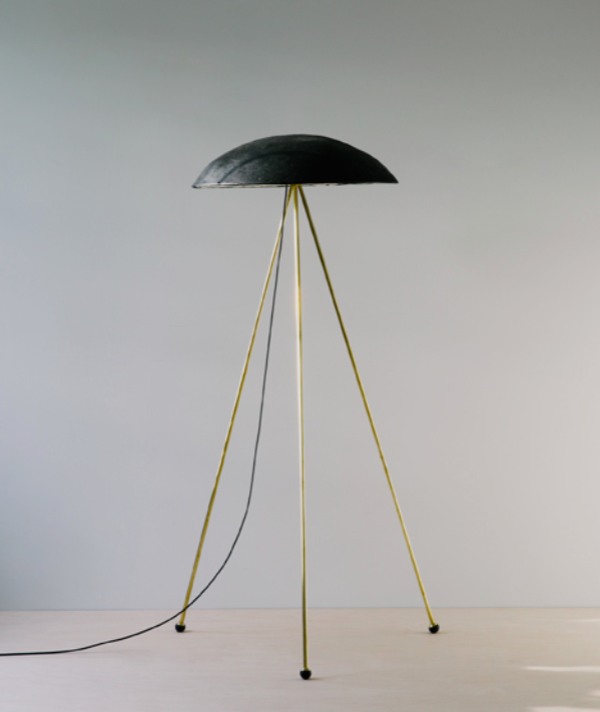 CONCRETE & BRASS FLOOR LAMPS