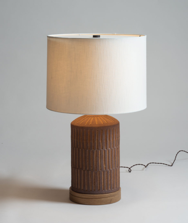 CHANNELED CERAMIC LAMP