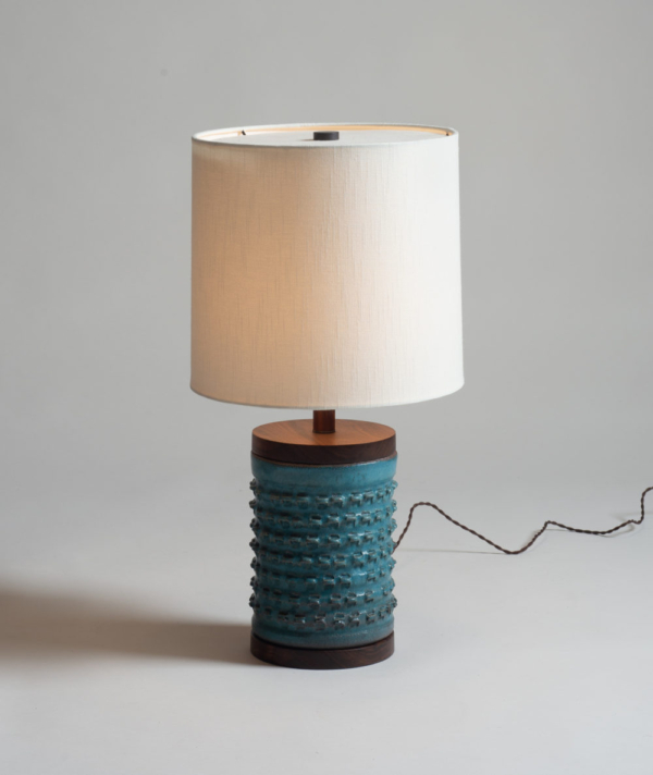 SMALL PINCHED CERAMIC LAMP