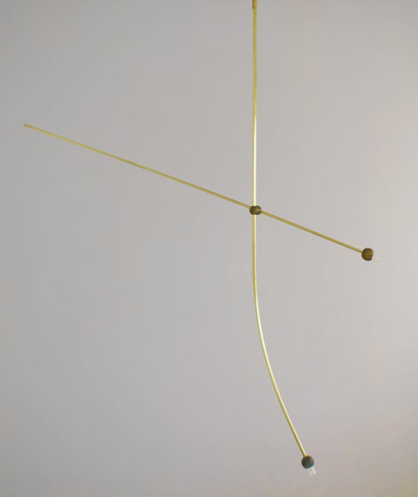 Brass Sculpted Light Suspension,