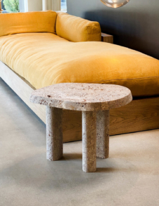 L SERIES STONE SIDE TABLE