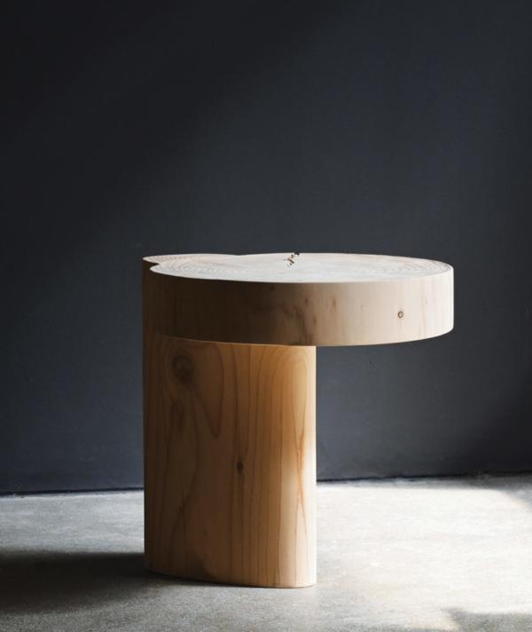 ERDE CEDAR SIDE TABLE