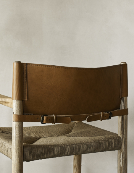 WOVEN RUSH CAMPAIGN ARMCHAIR
