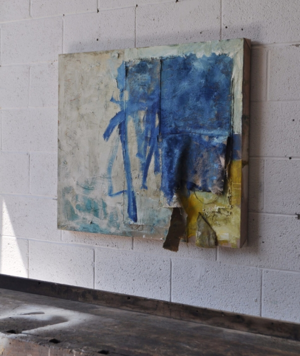 COLT SEAGER - TORN PAINTING IN BEIGE